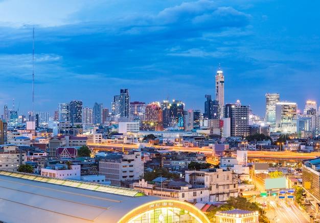 Panorama dworca centralnego w bangkoku