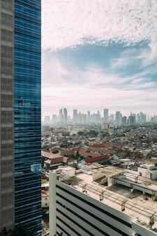 Panorama dżakarta z wysokim wzrostem