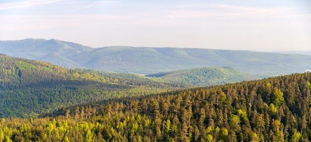 Panorama gór wogezów w alzacji