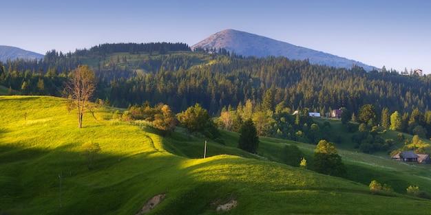 Panorama górska wioska