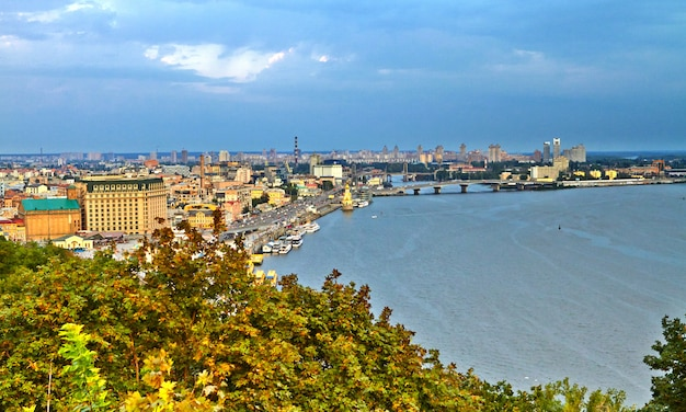 Panorama kijowa z góry