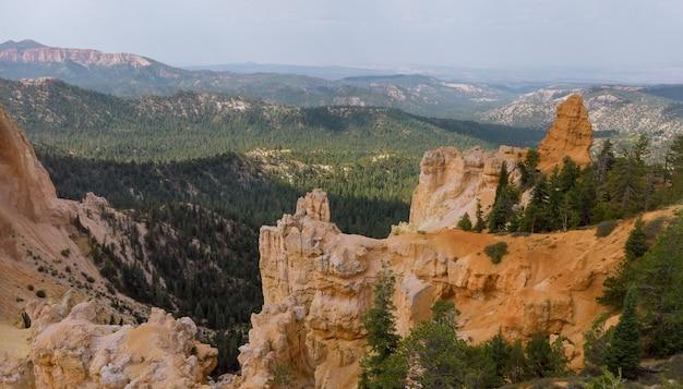 Panorama letniego krajobrazu w zion canyon national park w stanie utah, usa.
