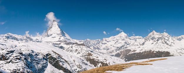 Panorama matterhorn szwajcaria