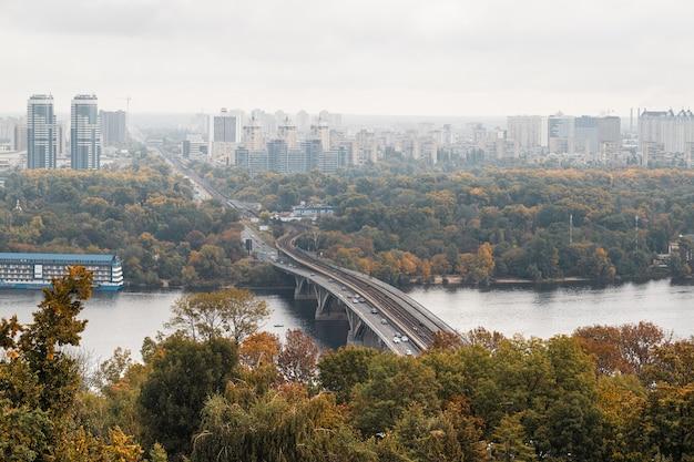Panorama miasta kijów, ukraina