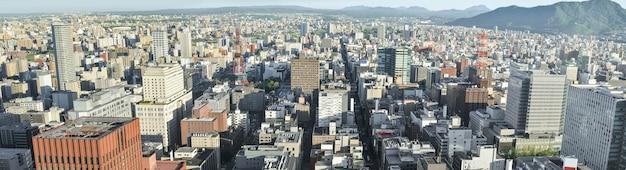 Panorama miasta sapporo panorama z tarasu widokowego jr tower t38.