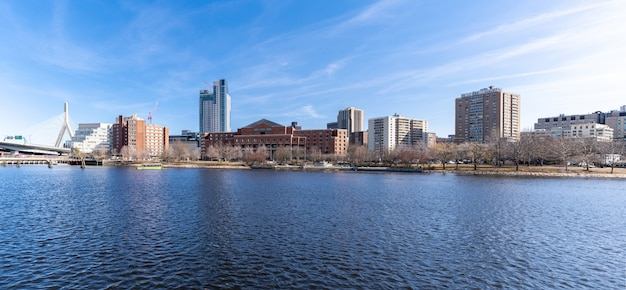 Panorama mostu boston zakim