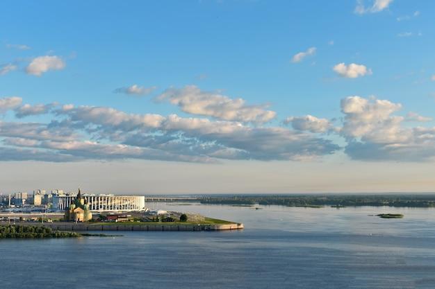 Panorama nabrzeża niżnego nowogrodu