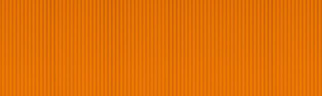 Panorama nowego pomarańczowego tła metalowej ściany falistej.