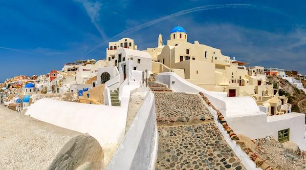 Panorama oia lub ia, santorini, grecja