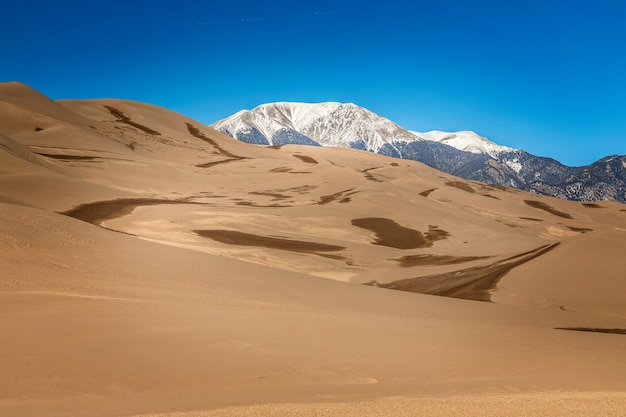 Panorama parku narodowego great sand dunes, kolorado