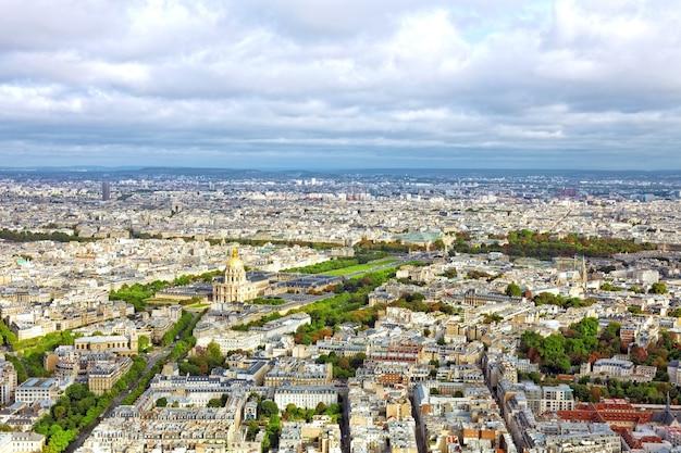 Panorama paryża z wieży montparnasse. francja.