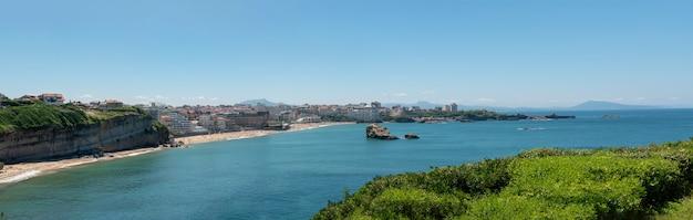 Panorama plaży biarritz miasto, francja