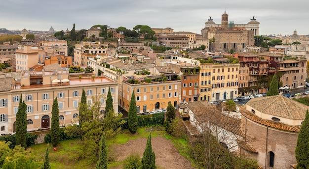Panorama rzymu ze wzgórza awentyn