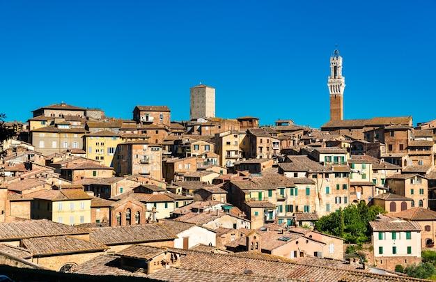 Panorama sieny w toskanii we włoszech