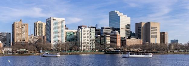 Panorama śródmieścia bostonu