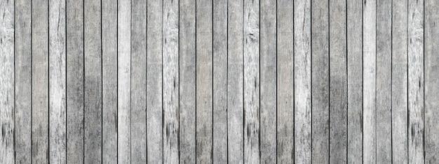 Panorama szarej deski posortowanej w tle