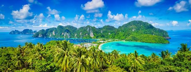 Panorama tropikalnych wysp