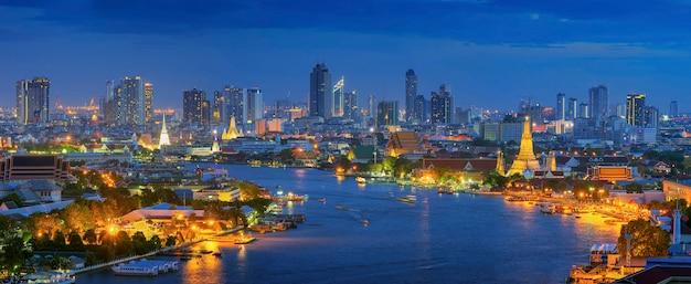 Panorama widok bangkok