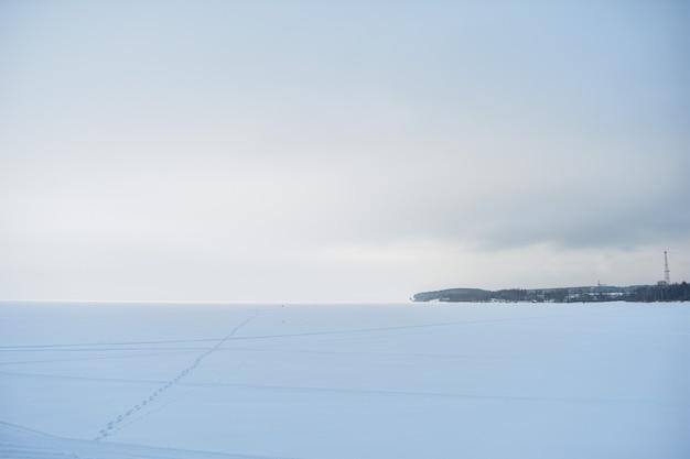 Panorama wołgi zimą