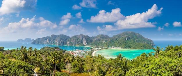 Panorama wyspy phi phi don, tajlandia