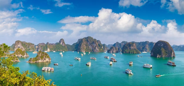 Panorama zatoki halong z wietnamu