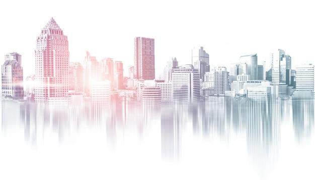 Panoramę budynków miejskich w obszarze metropolitalnym