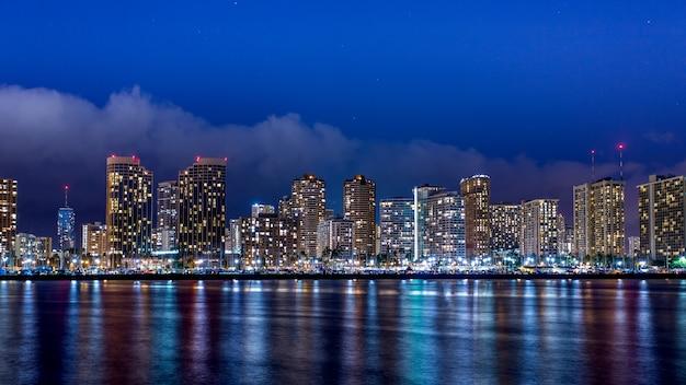 Panoramę centrum honolulu, oahu na hawajach