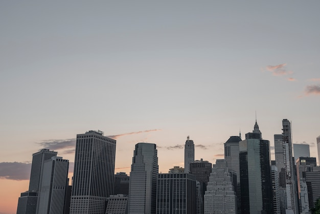 Panoramę dzielnicy finansowej nowego jorku