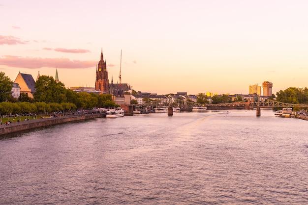 Panoramę frankfurtu nad menem