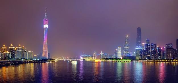 Panoramę guangzhou. guangzhou, chiny