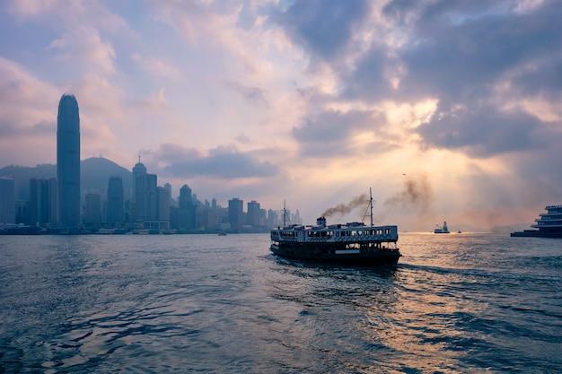 Panoramę hongkongu. hongkong, chiny