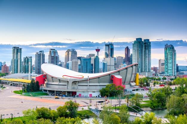Panoramę miasta calgary, alberta, kanada