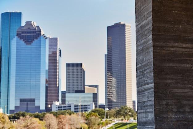 Panoramę miasta houston z zachodniego teksasu usa