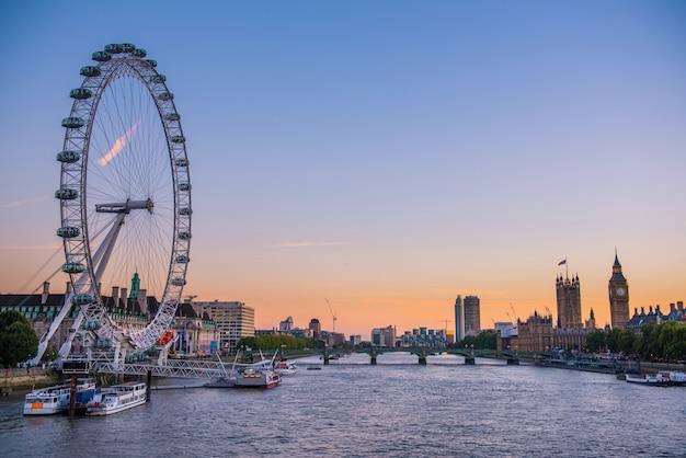 Panoramę miasta londyn