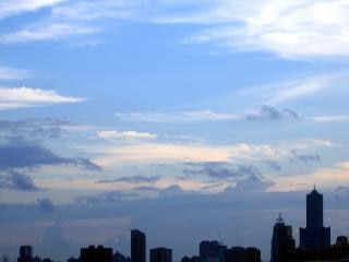 Panoramę miasta, po południu