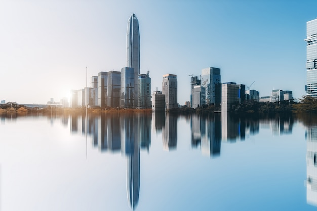 Panoramę miejskiego krajobrazu architektonicznego w shenzhen