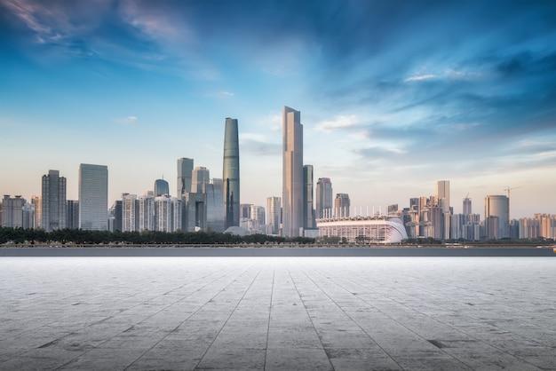 Panoramę nowoczesnej architektury miejskiej w chinach
