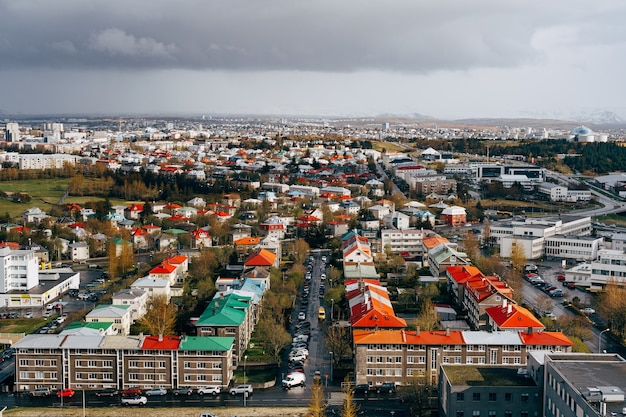 Panoramę reykjaviku, stolicy islandii