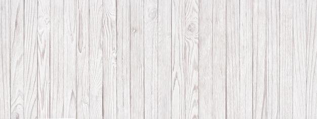 Panoramiczne tło białe drewniane tekstury, lekkie deski jako tapeta