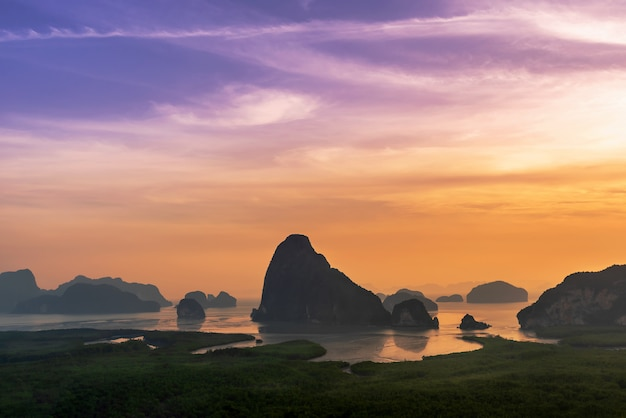 Panoramiczny krajobrazowy punkt widzenia samet nangshe