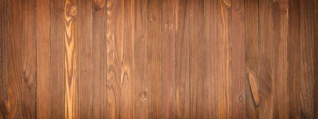 Panoramiczny widok na drewniany stół, zbliżenie tekstury drewna