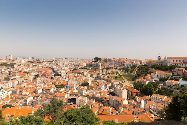Panoramiczny widok na europejskie miasto