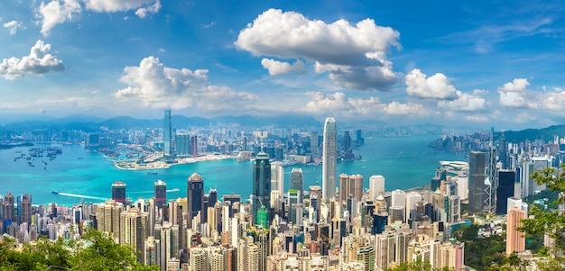 Panoramiczny widok na hongkong