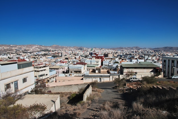 Panoramiczny widok na miasto abha arabia saudyjska