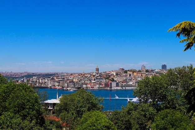 Panoramiczny widok na miasto stambuł