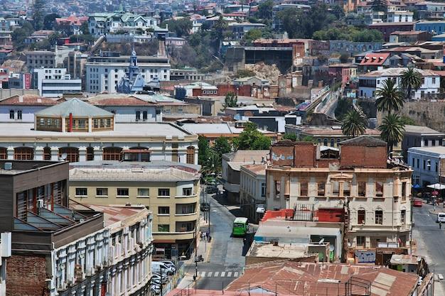 Panoramiczny widok na miasto valparaiso
