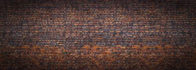 Panoramiczny widok na mur, mur z cegły jako tło as