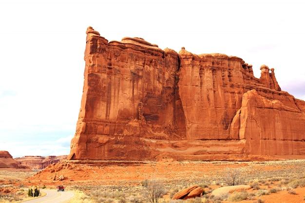 Panoramiczny widok na park narodowy arches. moab, utah,