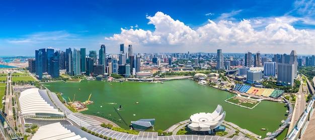 Panoramiczny widok na singapur