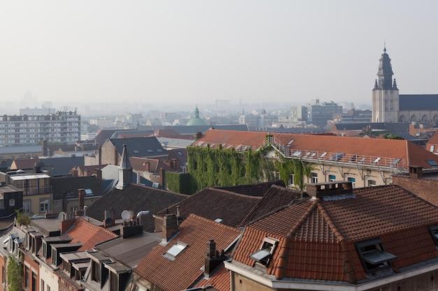 Panoramiczny widok z góry wieży, bruksela, belgia